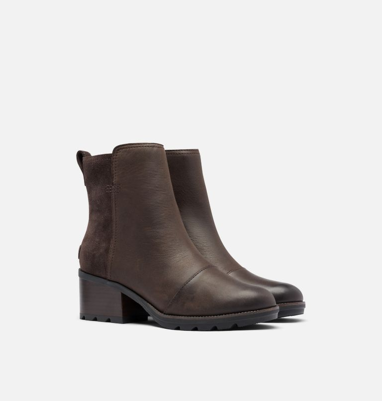CATE™ BOOTIE | 205 | 10 Women's Cate™ Bootie, Blackened Brown, 3/4 front