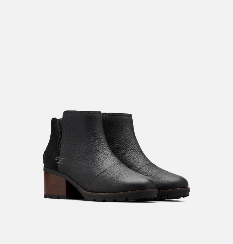 CATE™ CUT OUT | 010 | 5.5 Women's Cate™ Cut-Out Bootie, Black, 3/4 front