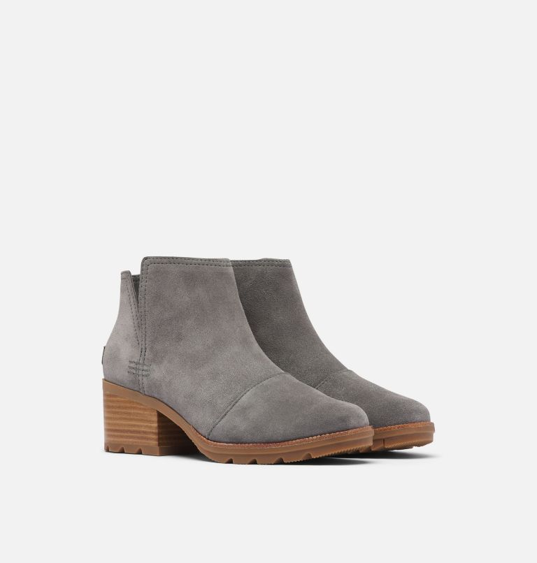 CATE™ CUT OUT | 052 | 9.5 Women's Cate™ Cut-Out Bootie, Light Quarry, 3/4 front