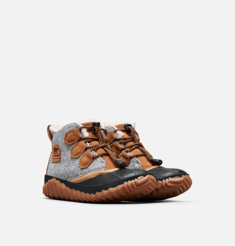 YOUTH OUT N ABOUT™ PLUS | 052 | 3 Youth Out N About™ Plus Boot, Quarry, Camel Brown, 3/4 front