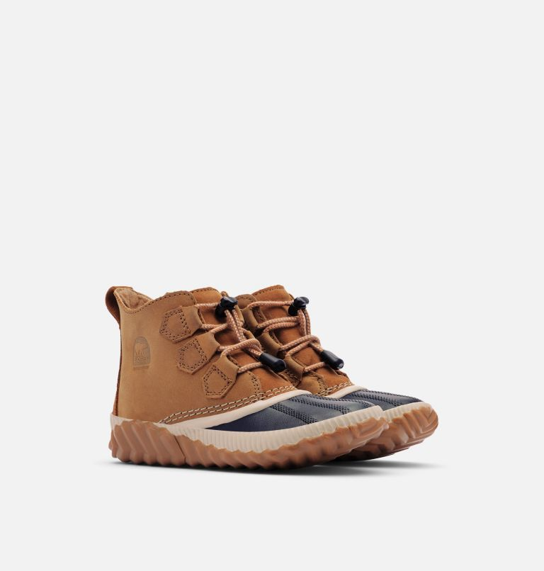 YOUTH OUT N ABOUT™ PLUS | 286 | 1 Youth Out N About™ Plus Boot, Elk, Black, 3/4 front