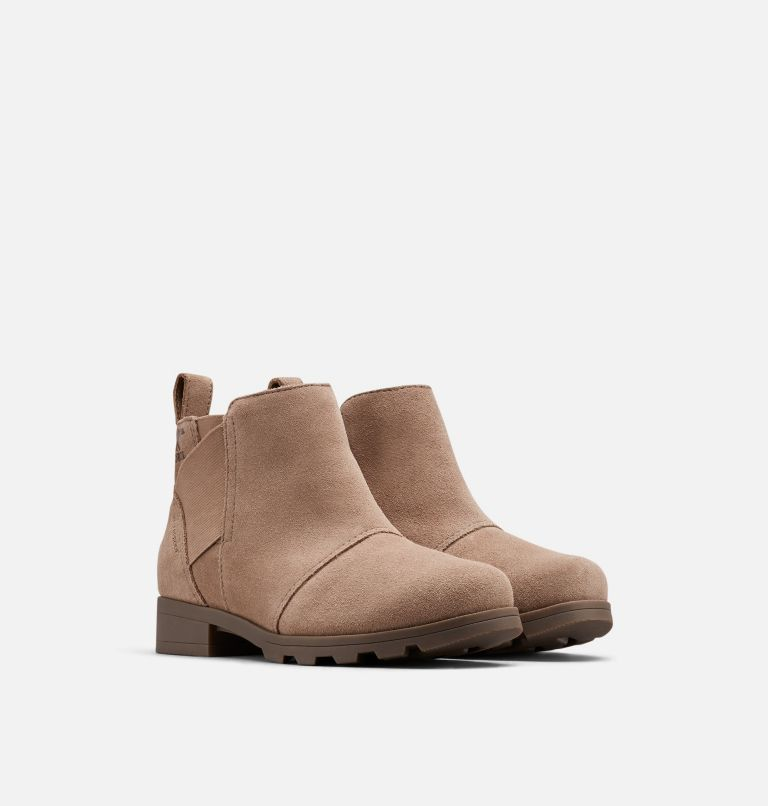 YOUTH EMELIE™ CHELSEA | 240 | 4 Youth Emelie™ Chelsea Bootie, Ash Brown, 3/4 front
