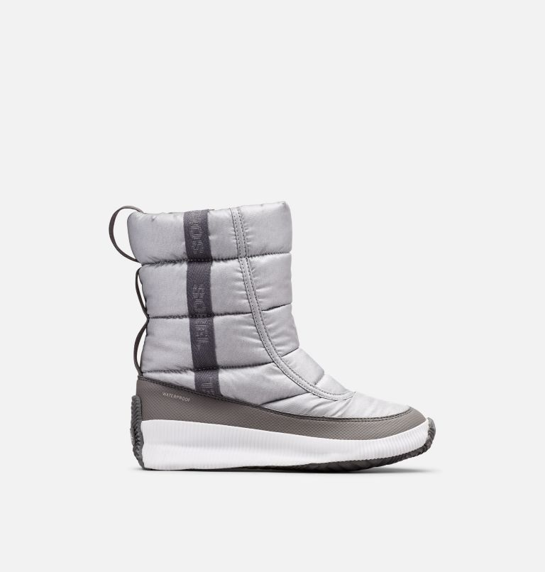 OUT N ABOUT™ PUFFY MID | 034 | 8 Women's  Out N About™ Puffy Mid, Pure Silver, front
