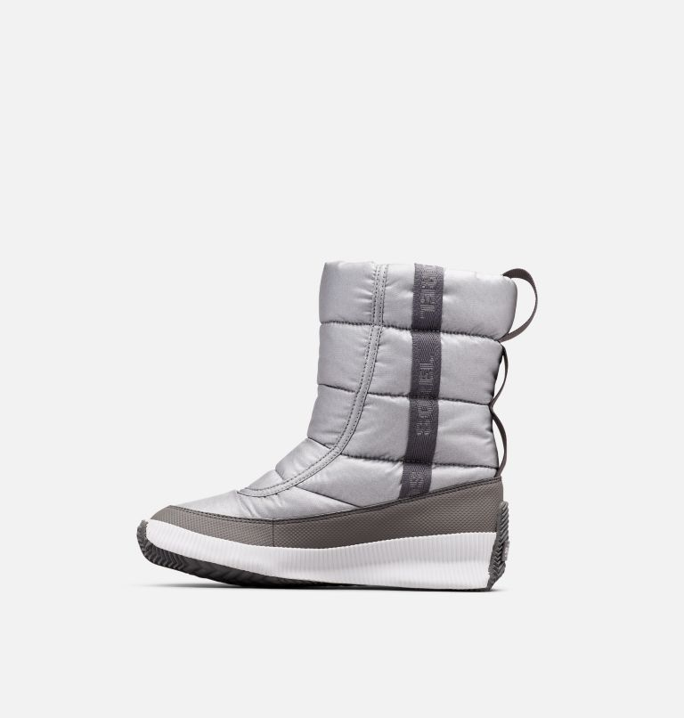 OUT N ABOUT™ PUFFY MID | 034 | 8 Women's  Out N About™ Puffy Mid, Pure Silver, medial