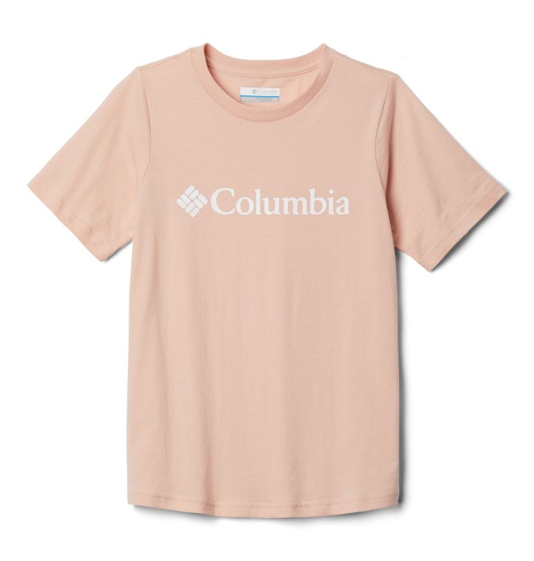 CSC Basic Logo™ Youth Short Sleeve | 870 | XS Youth CSC Basic Logo™ T-shirt, Peach Cloud, front