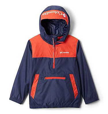 Giacca anti-vento Bloomingport™ ragazzo Bloomingport™ Windbreaker | 464 | L, Nocturnal, Bright Poppy, front