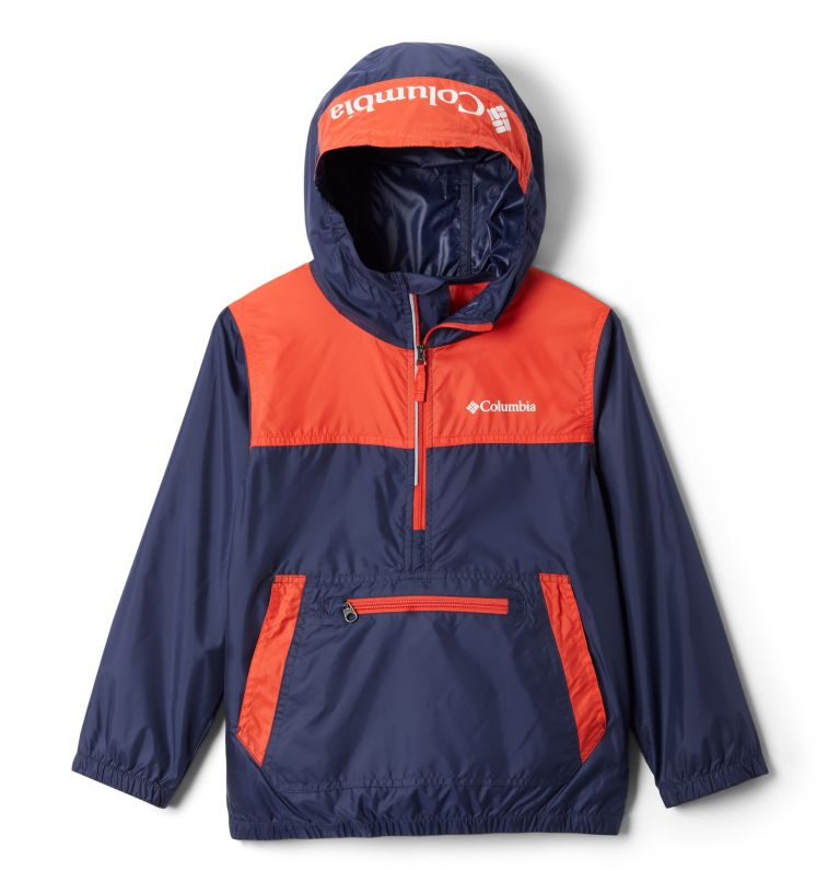 Bloomingport™ Windbreaker | 466 | XL Youth Bloomingport™ Windbreaker, Nocturnal, Bright Poppy, front