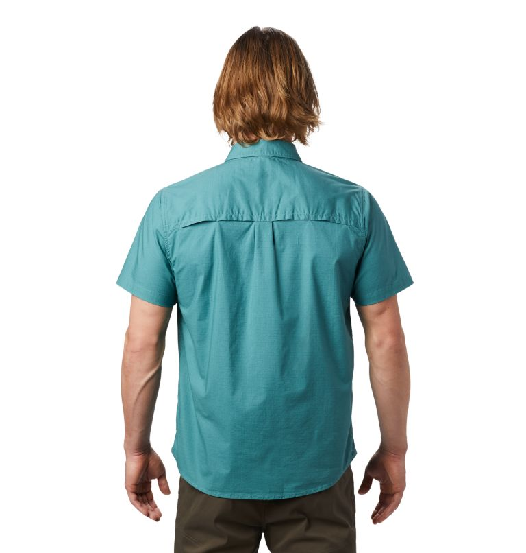 J Tree™ Short Sleeve Shirt | 447 | XXL Men's J Tree™ Short Sleeve Shirt, Washed Turq, back