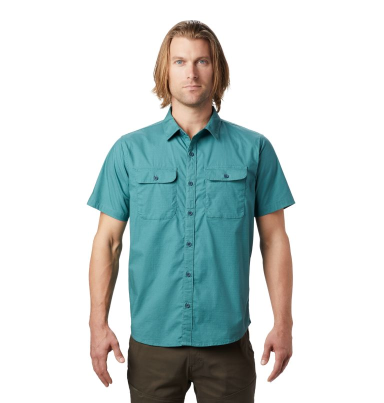 J Tree™ Short Sleeve Shirt | 447 | XXL Men's J Tree™ Short Sleeve Shirt, Washed Turq, front