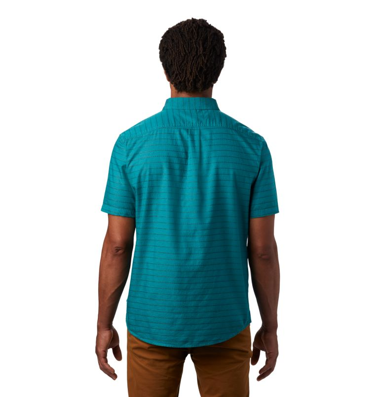 Crystal Valley™ Short Sleeve Shirt | 345 | L Men's Crystal Valley™ Short Sleeve Shirt, Vivid Teal, back