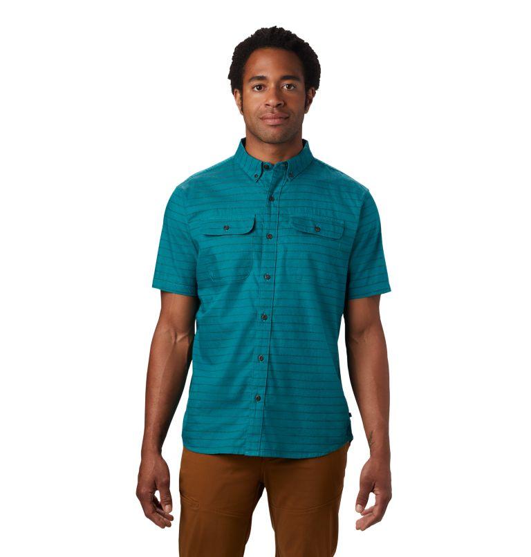 Crystal Valley™ Short Sleeve Shirt | 345 | L Men's Crystal Valley™ Short Sleeve Shirt, Vivid Teal, front