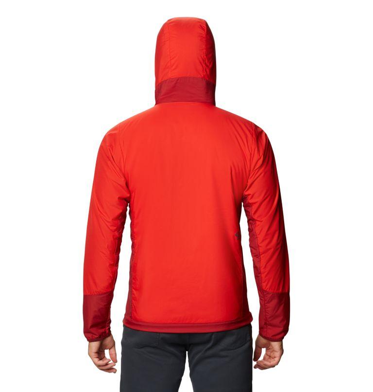 Kor Cirrus™ Hybrid Hoody | 636 | XL Men's Kor Cirrus™ Hybrid Hoody, Fiery Red, back
