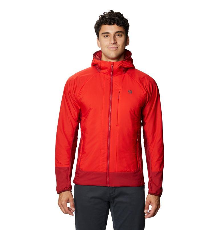 Kor Cirrus™ Hybrid Hoody | 636 | M Men's Kor Cirrus™ Hybrid Hoody, Fiery Red, front