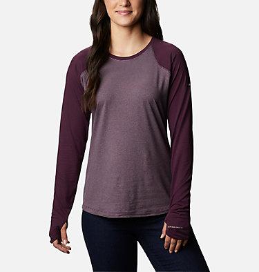 Women's Cross Trails™ Long Sleeve Shirt Cross Trails™ Long Sleeve Shirt   375   L, Black Cherry Stripe, Black Cherry, front