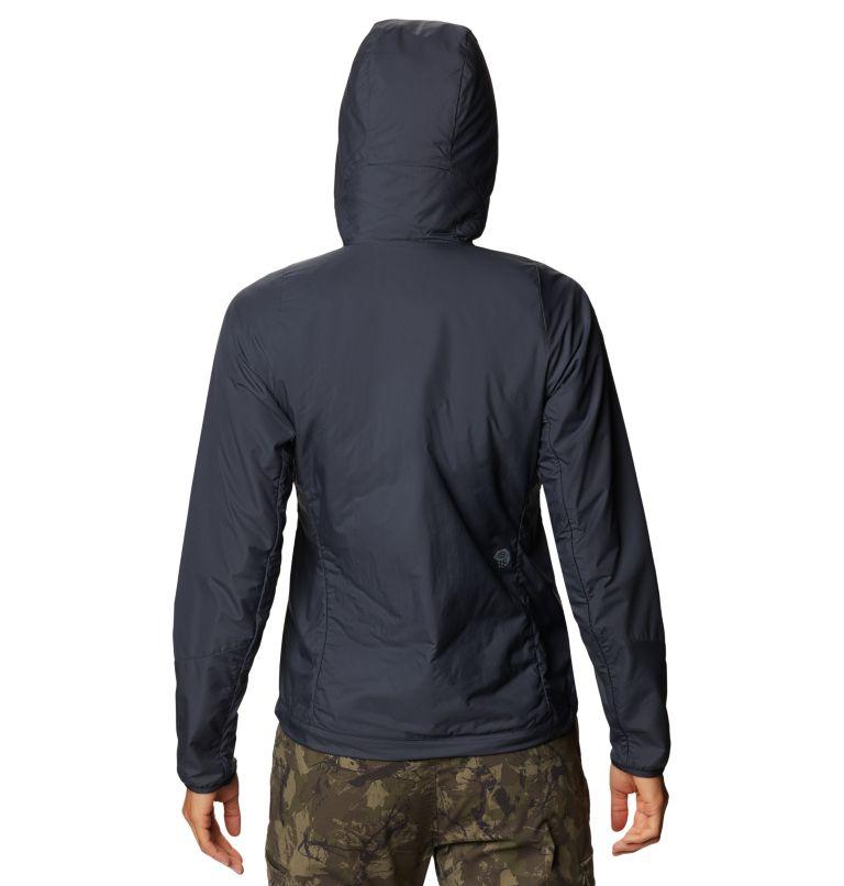 Kor Cirrus™ Hybrid Hoody | 406 | XS Women's Kor Cirrus™ Hybrid Hoody, Dark Zinc, back
