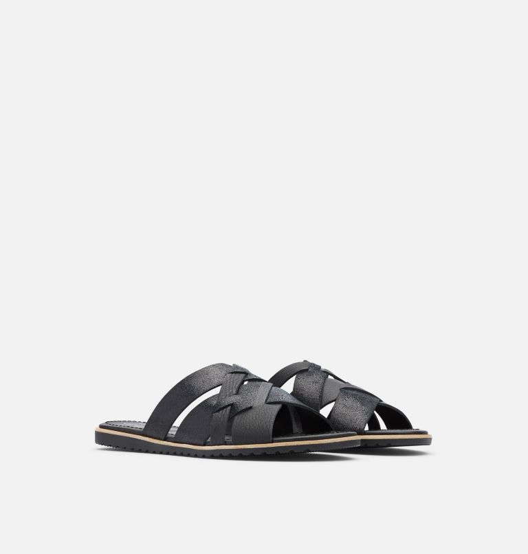 ELLA™ SLIDE | 010 | 7 Women's Ella™ Slide, Black, 3/4 front