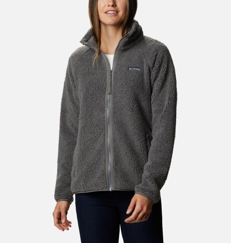 Manteau épais en laine polaire Cozy Camper pour femme Manteau épais en laine polaire Cozy Camper pour femme, front