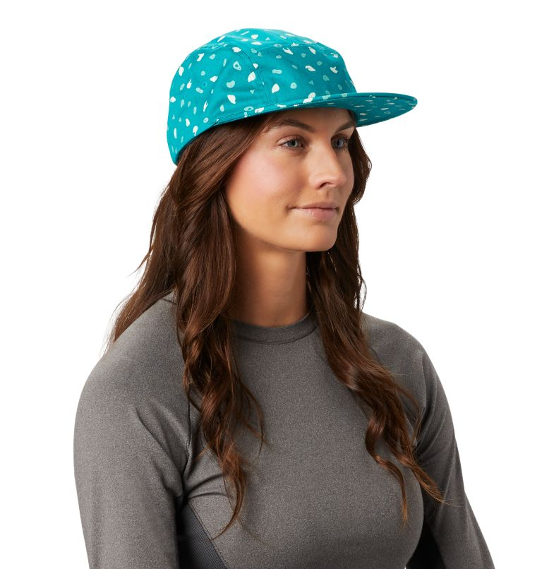 Hand/Hold™ Printed Camp Hat | 345 | O/S Women's Hand/Hold™ Printed Camp Hat, Vivid Teal, a1
