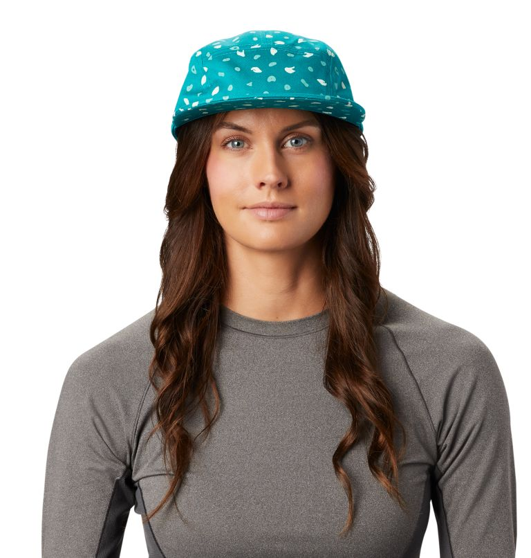 Hand/Hold™ Printed Camp Hat | 345 | O/S Women's Hand/Hold™ Printed Camp Hat, Vivid Teal, front