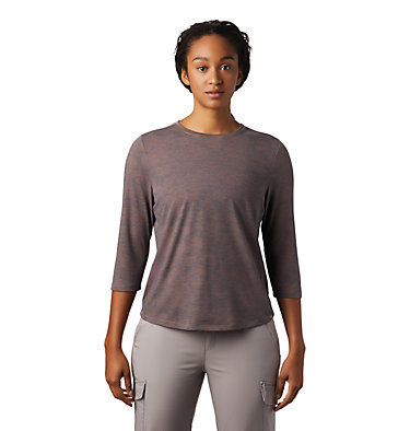 Women's Right On™ 3/4 T-Shirt Right On™ 3/4 T | 642 | L, Smoky Quartz, front