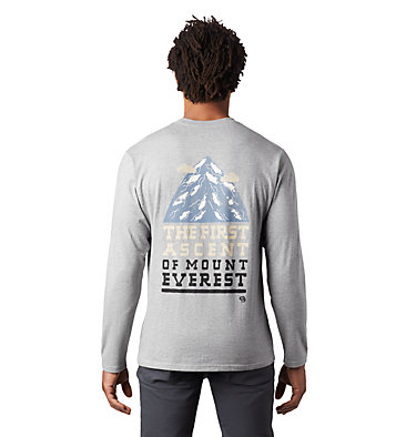 Men's Hotel Basecamp™ Long Sleeve T-Shirt Hotel Basecamp™ Long Sleeve T | 354 | L, Heather Manta Grey, back