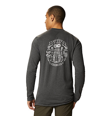 Men's MHW Gear™ Long Sleeve T-Shirt MHW Gear™ Long Sleeve T | 011 | L, Heather Black, back