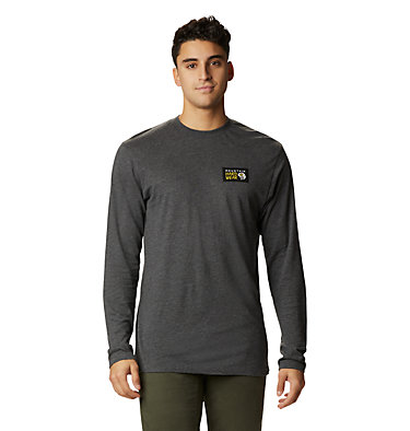 Men's Classic MHW Logo™ Long Sleeve T-Shirt Classic MHW Logo™ Long Sleeve T | 492 | L, Heather Black, front