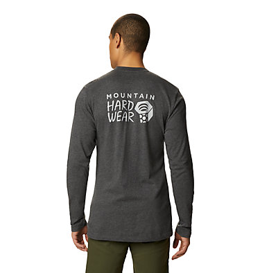 Men's MHW Logo™ Long Sleeve T-Shirt MHW Logo™ Long Sleeve T | 831 | L, Heather Black, back