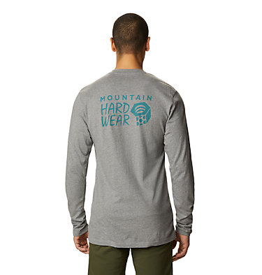 Men's MHW Logo™ Long Sleeve T-Shirt MHW Logo™ Long Sleeve T | 831 | L, Heather Manta Grey, back
