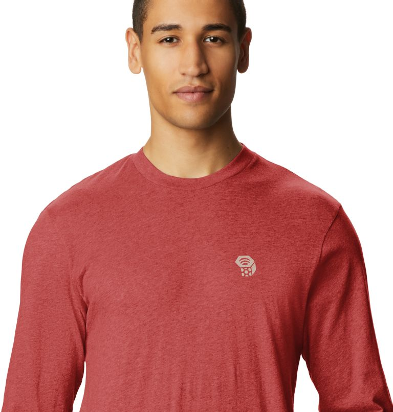 MHW Logo™ Long Sleeve T | 831 | S T-shirt à manches longues MHW Logo™ Homme, Desert Red, a1