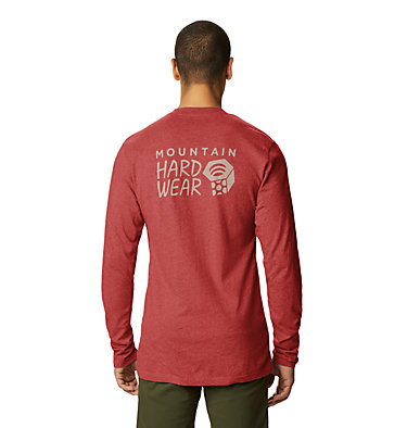 Men's MHW Logo™ Long Sleeve T-Shirt MHW Logo™ Long Sleeve T | 831 | L, Desert Red, back