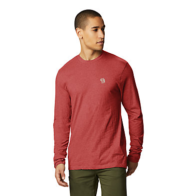 Men's MHW Logo™ Long Sleeve T-Shirt MHW Logo™ Long Sleeve T | 831 | L, Desert Red, front
