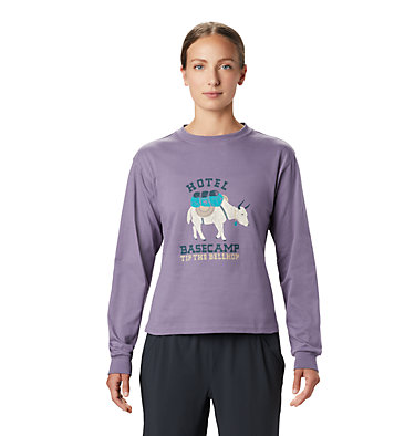 Women's Hotel Basecamp™ Long Sleeve T-Shirt Hotel Basecamp™ Long Sleeve T | 104 | L, Dusted Sky, front