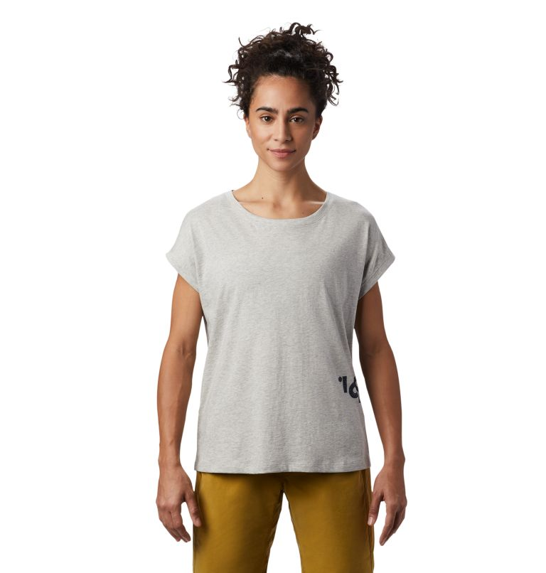 Tomomi 93™ Short Sleeve T | 064 | S Women's Tomomi 93™ Short Sleeve T-Shirt, Heather Grey, front