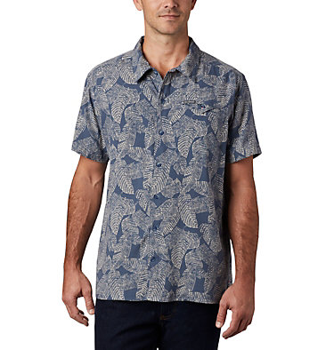 Men's Lakeside Trail™ Short Sleeve Shirt Lakeside Trail™ SS Shirt | 257 | L, Dark Mountain Rad Palms Print, front