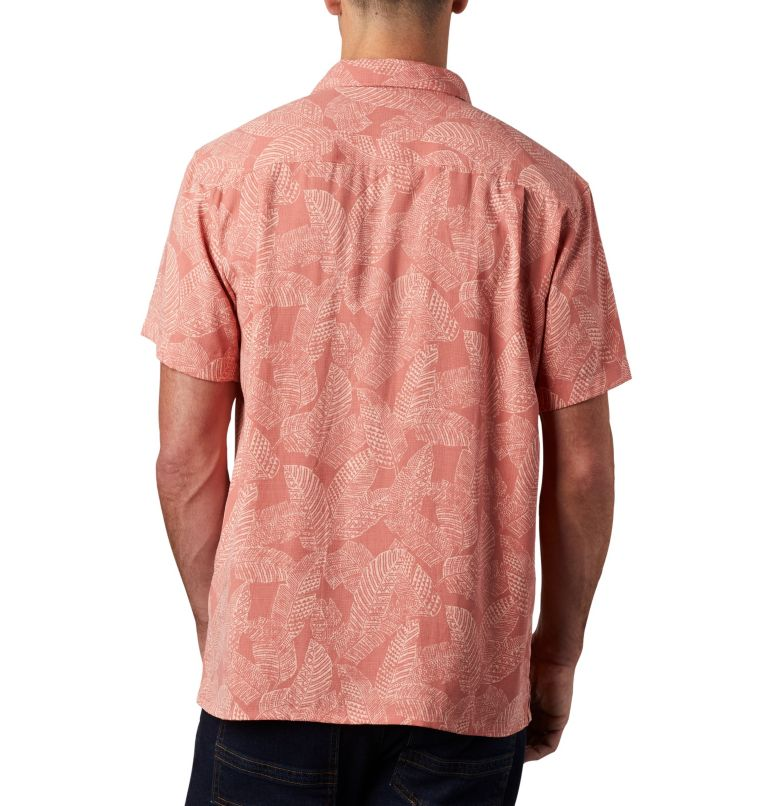 Lakeside Trail™ SS Shirt | 639 | M Men's Lakeside Trail™ Short Sleeve Shirt, Dark Coral Rad Palms Print, back