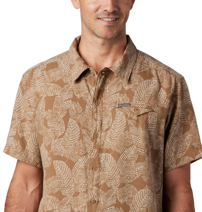 Lakeside Trail™ SS Shirt | 257 | 3X Men's Lakeside Trail™ Short Sleeve Shirt - Big, Delta Rad Palms Print, a2