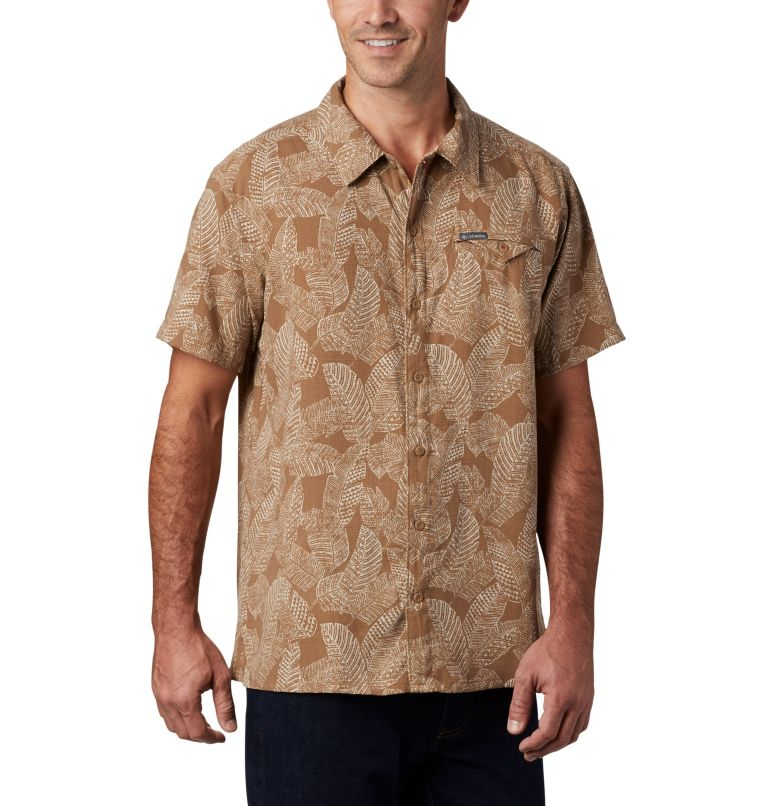 Lakeside Trail™ SS Shirt | 257 | 3X Men's Lakeside Trail™ Short Sleeve Shirt - Big, Delta Rad Palms Print, a3