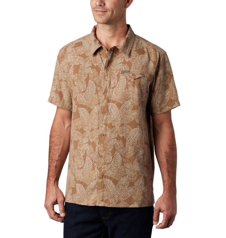 Lakeside Trail™ SS Shirt | 257 | 3X Men's Lakeside Trail™ Short Sleeve Shirt - Big, Delta Rad Palms Print, front