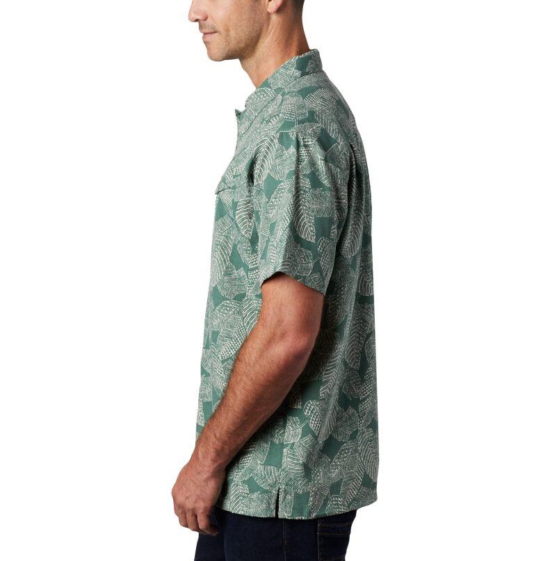 Lakeside Trail™ SS Shirt | 369 | 3X Men's Lakeside Trail™ Short Sleeve Shirt - Big, Thyme Green Rad Palms Print, a1