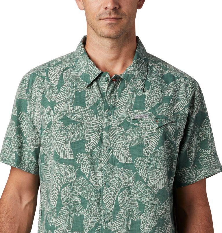 Lakeside Trail™ SS Shirt | 369 | 3X Men's Lakeside Trail™ Short Sleeve Shirt - Big, Thyme Green Rad Palms Print, a2