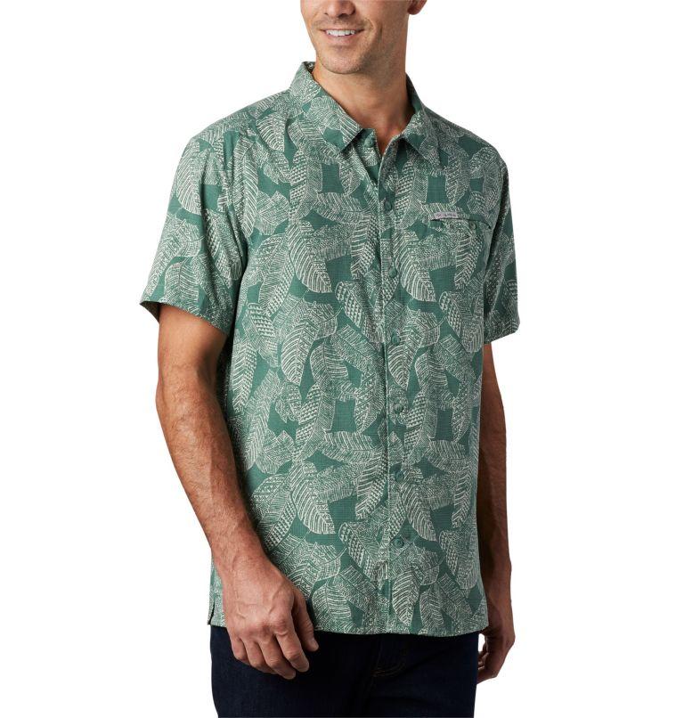 Lakeside Trail™ SS Shirt | 369 | 3X Men's Lakeside Trail™ Short Sleeve Shirt - Big, Thyme Green Rad Palms Print, a3