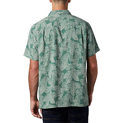 Men's Lakeside Trail™ Short Sleeve Shirt - Big Lakeside Trail™ SS Shirt | 369 | 1X, Thyme Green Rad Palms Print, back