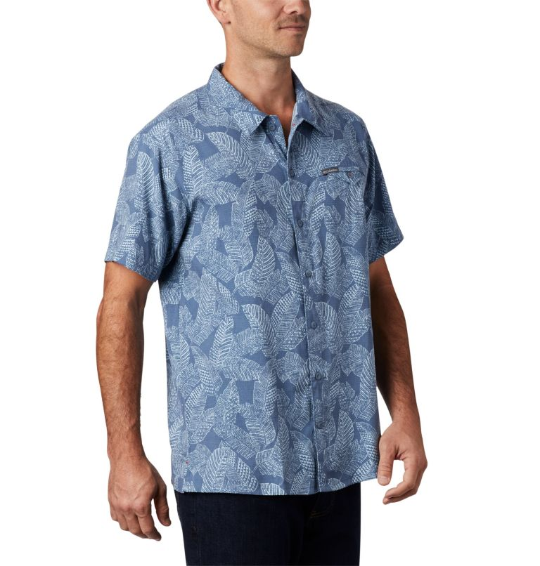 Lakeside Trail™ SS Shirt | 441 | 3X Men's Lakeside Trail™ Short Sleeve Shirt - Big, Mountain Rad Palms Print, a3