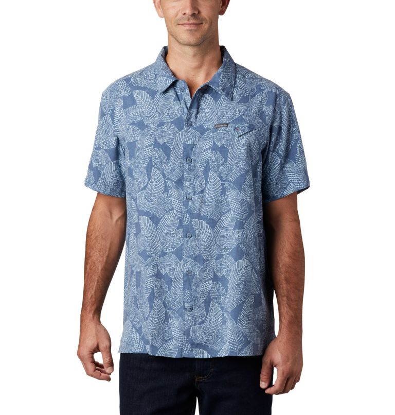 Lakeside Trail™ SS Shirt | 441 | 3X Men's Lakeside Trail™ Short Sleeve Shirt - Big, Mountain Rad Palms Print, front