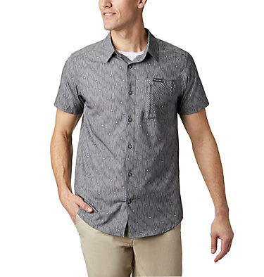 Camisa de manga corta Triple Canyon™ para hombre Triple Canyon™ SS Shirt | 437 | L, City Grey Maze, front