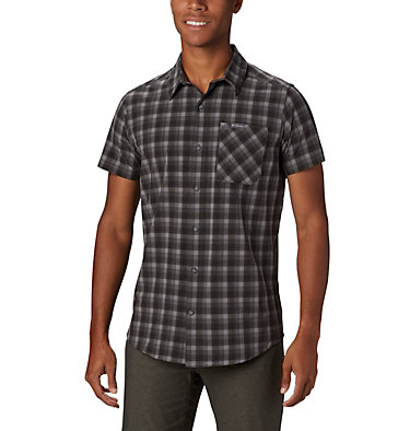 Camisa de manga corta Triple Canyon™ para hombre Triple Canyon™ SS Shirt | 437 | L, Columbia Grey Mini Tonal Plaid, front