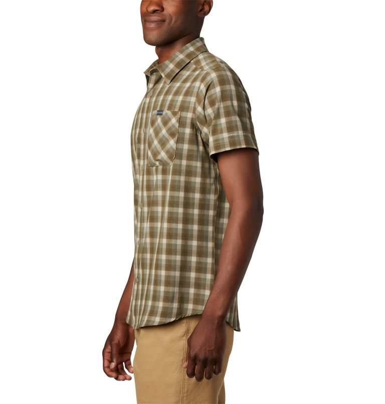 Triple Canyon™ SS Shirt | 160 | L Camicia a manica corta Triple Canyon™ da uomo , Fossil Mini Tonal Plaid, a1