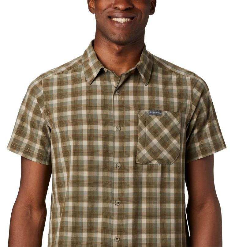 Triple Canyon™ SS Shirt | 160 | L Camicia a manica corta Triple Canyon™ da uomo , Fossil Mini Tonal Plaid, a3