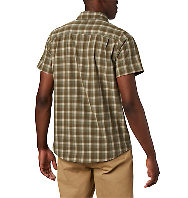 Camisa de manga corta Triple Canyon™ para hombre Triple Canyon™ SS Shirt | 437 | L, Fossil Mini Tonal Plaid, back